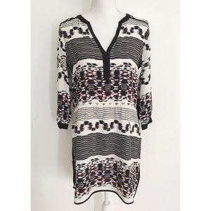 EUC Parker x Barneys New York Aztec Geo silk Dress